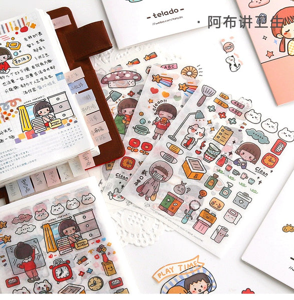 Telado Girl Washi Sticker Set - Hygiene