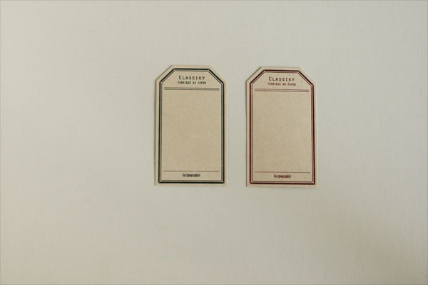 Letterpress Label Cards - Red / Green