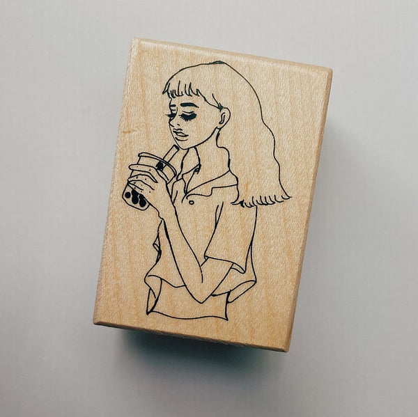 La Dolce Vita Milk Tea Girl Stamp