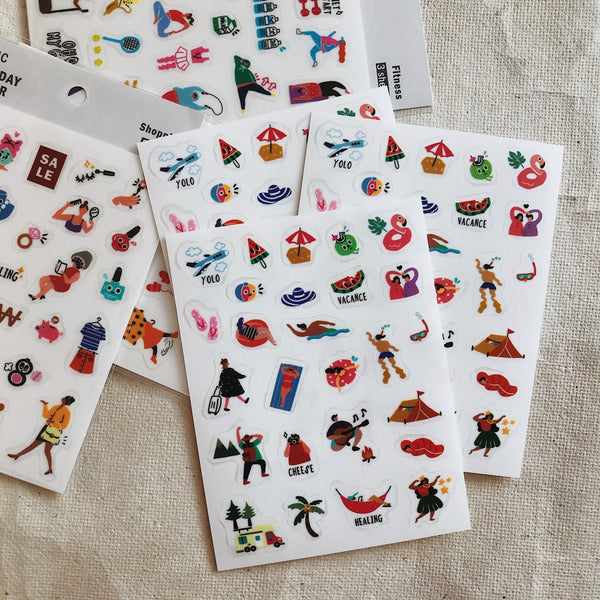 Holiday Everyday Stickers (3 Sheets)