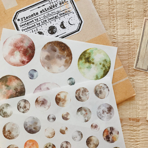 LCN Planets Sticker Set