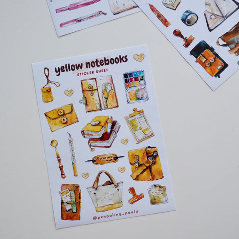 Yellow Notebook Sticker