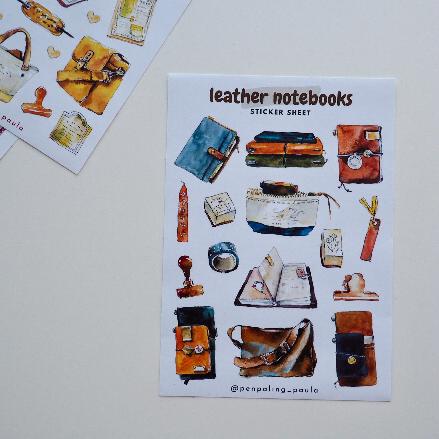 Leather Notebook Sticker