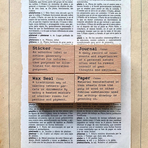Dictionary Stamps