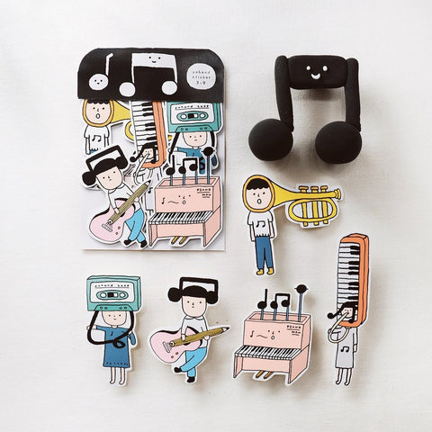 Music Waterproof Stickers