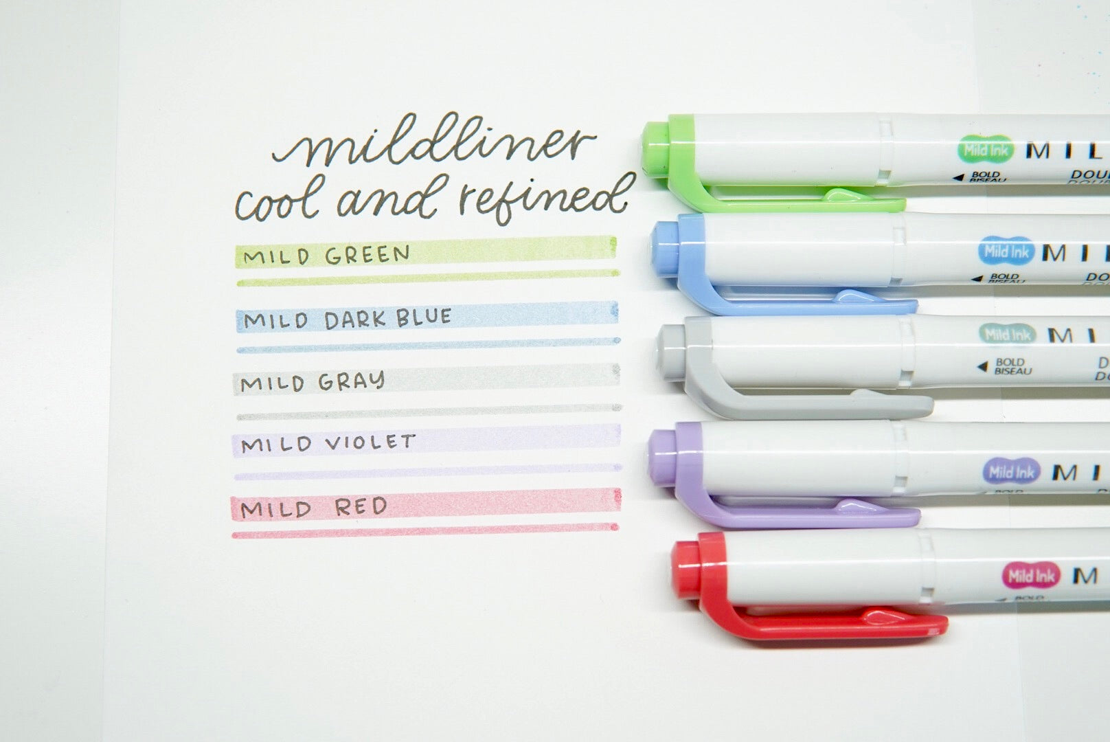 Mildliner Double Ended Highlighter - Cool & Refined