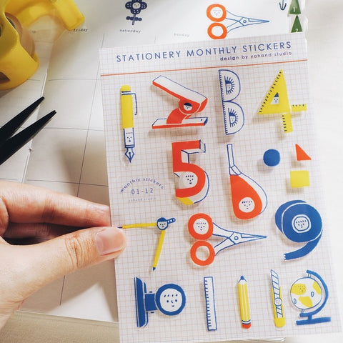 Stationery Monthly Stickers
