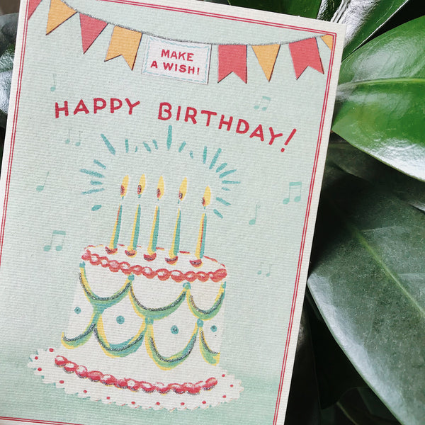 Cavallini Birthday Card - Cake