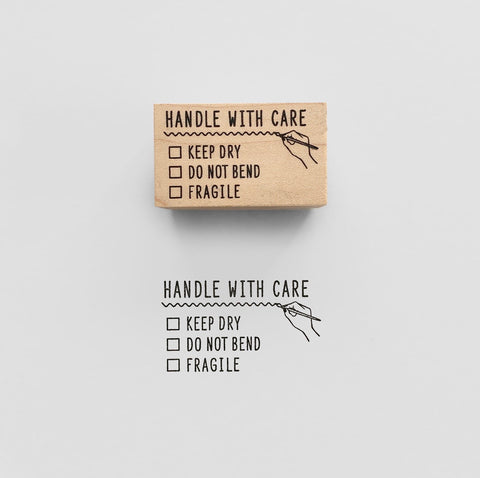 HANDLE WITH CARE Rubber Stamp スタンプ