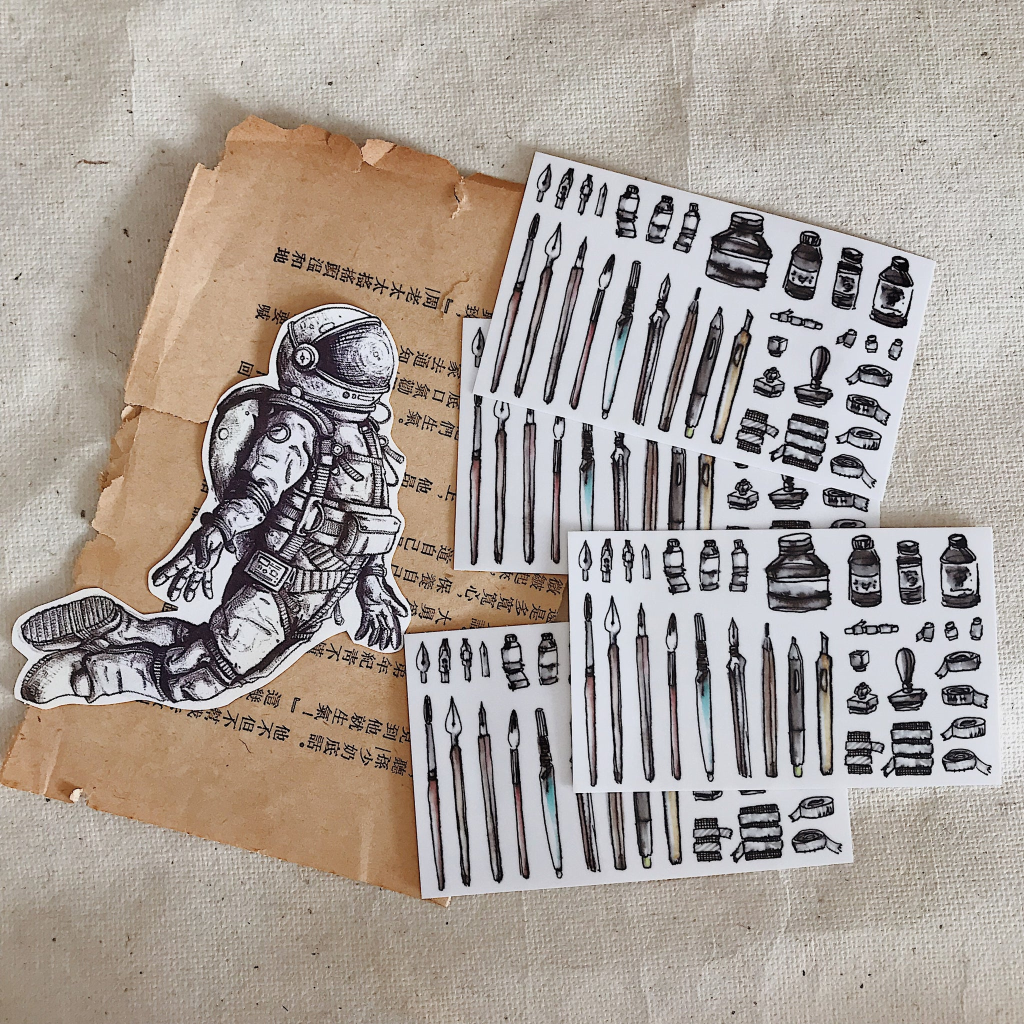 LCN Stationery Stickers Set
