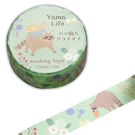 Yama-Life Washi Tape - Mountain Life Raccoon