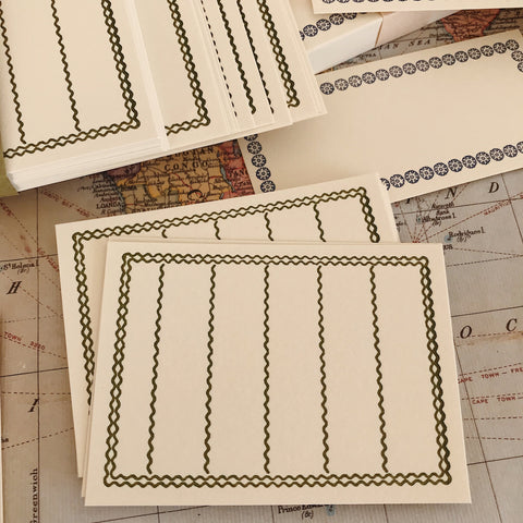Letterpress Memo Cards - Green