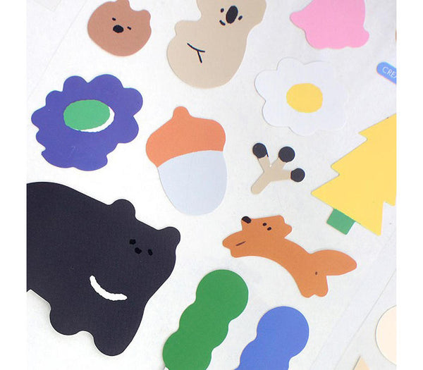 Big Point Stickers - Forest Animal