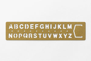 TRC BRASS TEMPLATE BOOKMARK - Alphabet