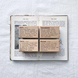 Dictionary Stamp (Gift /Handmade /Yarn /Notes)