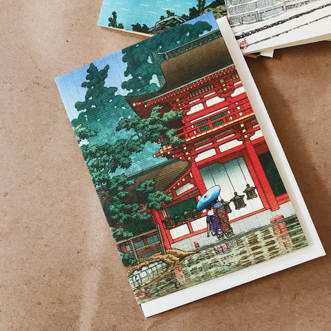 Cavallini Pocket Card - Japan / Temple