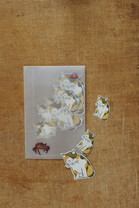 Washi Paper Kitten Sticker (18pcs)