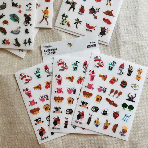 Food - Film Stickers  (3 Sheets)