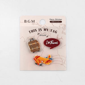 BGM Embroidery Sticker - Trip