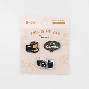 BGM Embroidery Sticker - Camera