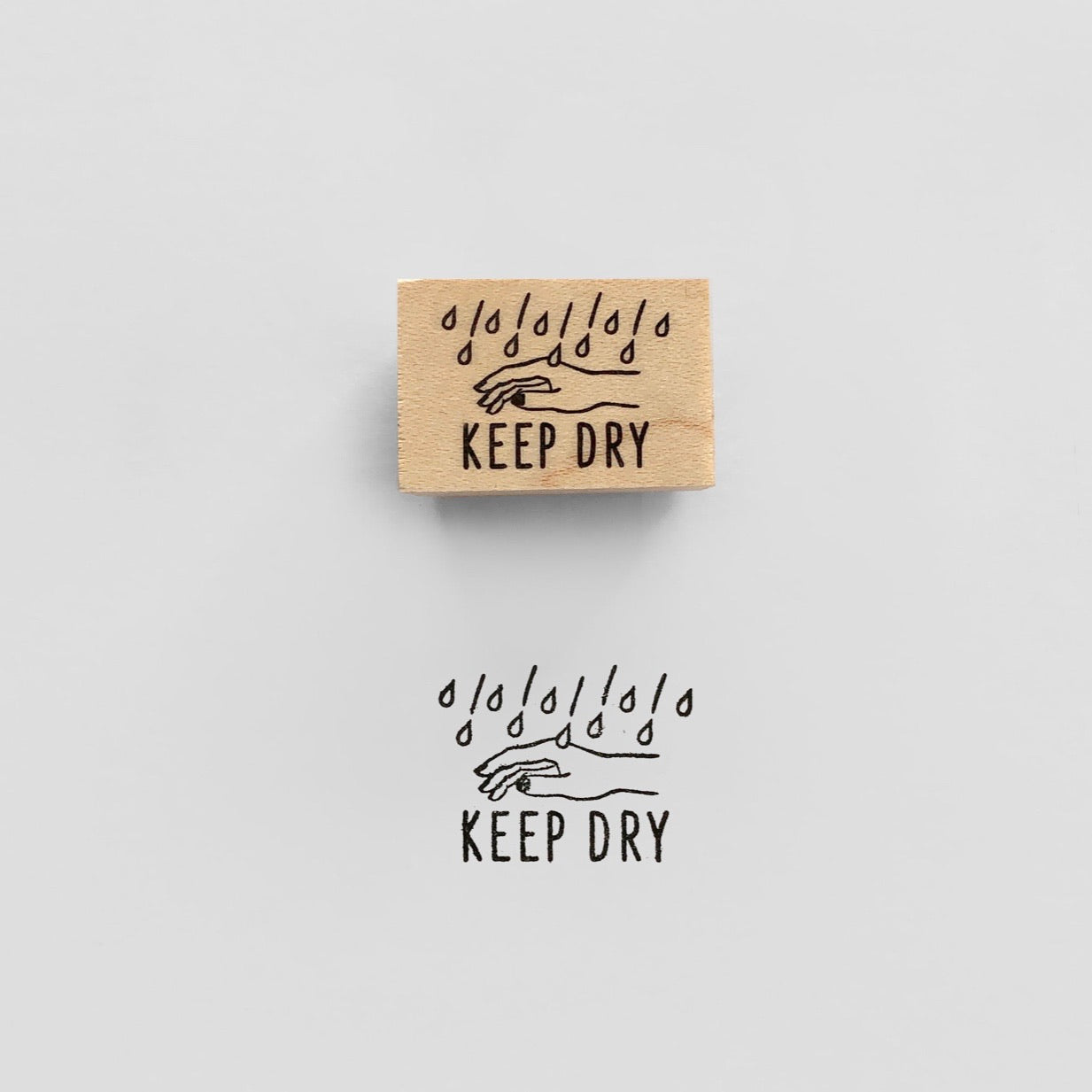 KEEP DRY Rubber Stamp スタンプ