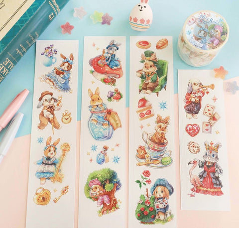 Maruco Alice Rabbit Original Washi Tape (with Release Paper)