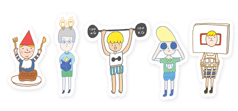 Yohand Unique Boys Waterproof Stickers 2-10