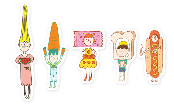 Yohand Foodieee Waterproof Stickers 2-05
