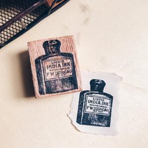India Ink Rubber Stamp