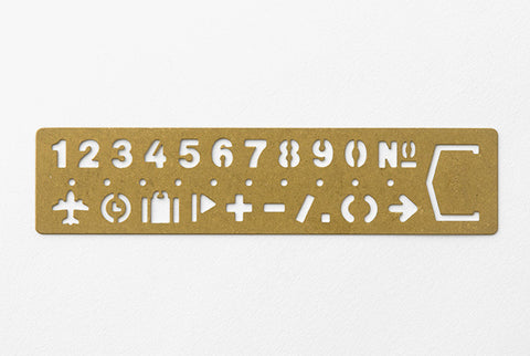 TRC BRASS TEMPLATE BOOKMARK - Number
