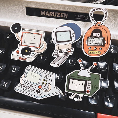 Retro Machine Waterproof Stickers