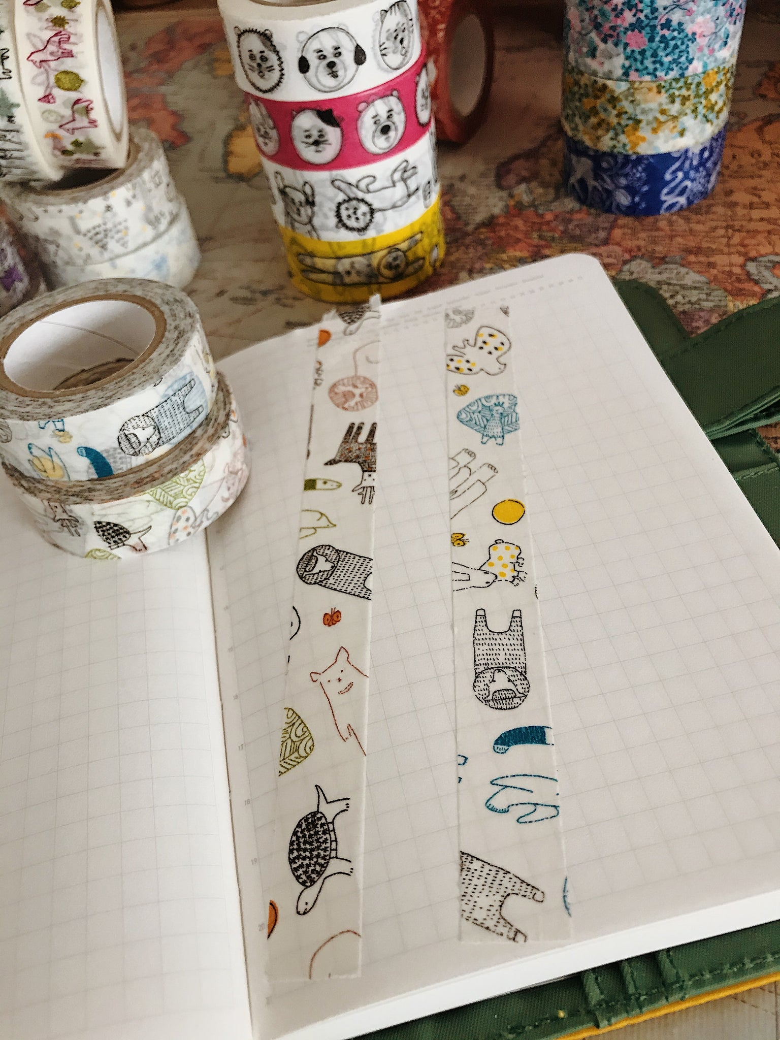Beasts Masking Tape - Green / Blue