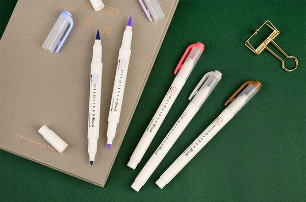 Mildliner BRUSH PEN Double Ended - Cool & Refined