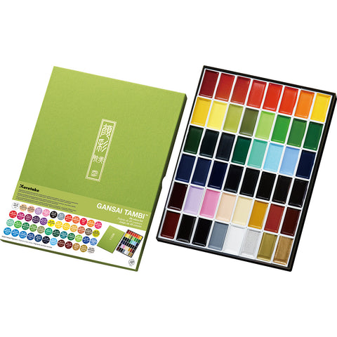 Gansai Tambi Japanese Watercolors Set - 48 colors