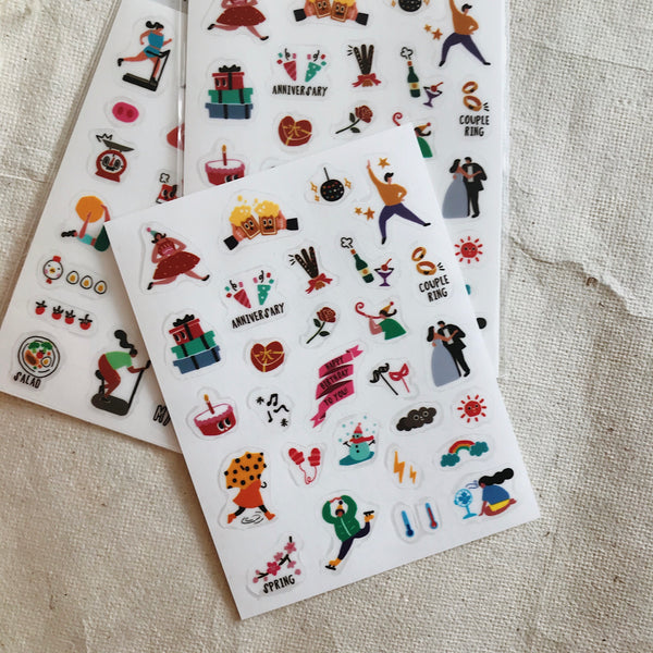 Fitness - Film Stickers (3 Sheets)