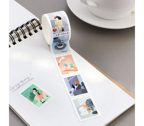 Postal Stamp Masking Tape - Day Off