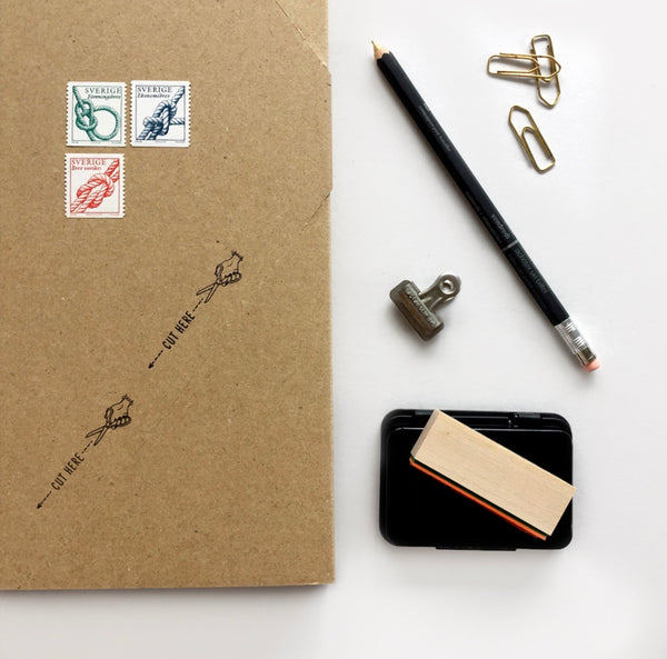 CUT HERE Rubber Stamp スタンプ