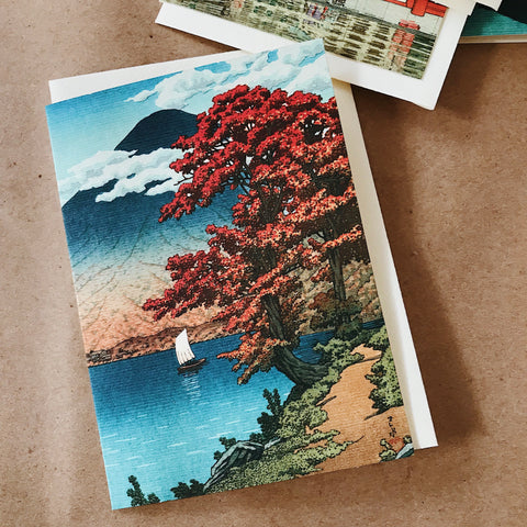 Cavallini Pocket Card - Japan / Lake