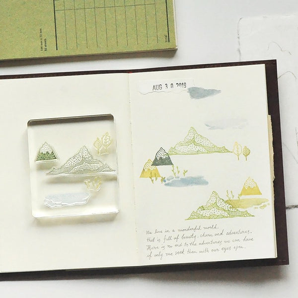 MU Splice Stamp No.11 Landscape Of Mountains