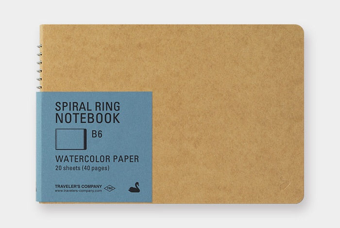 TRC SPIRAL RING NOTEBOOK (B6) Watercolor Paper