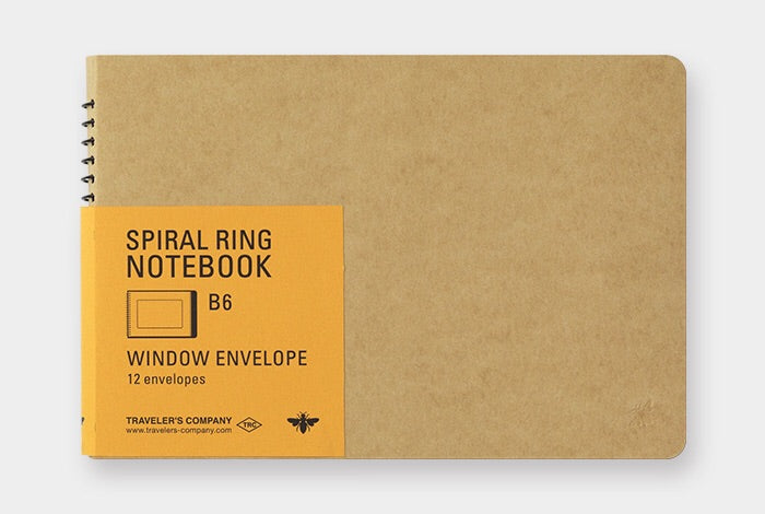 TRC SPIRAL RING NOTEBOOK (B6) Window Envelope