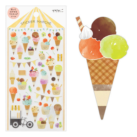 Sticker Marché - Ice Cream
