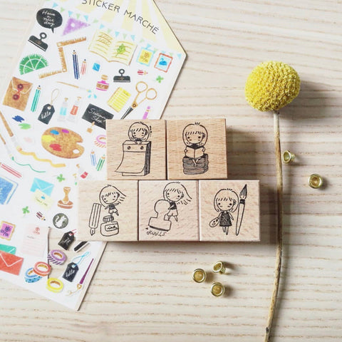 Mini Girl Stationery Stamps