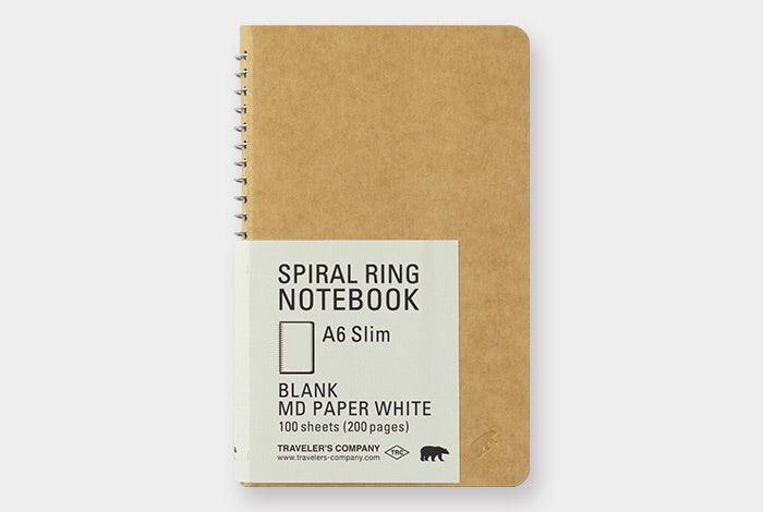 TRC SPIRAL RING NOTEBOOK (A6 Slim) Blank MD Paper White