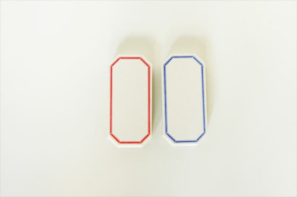 Letterpress Label Cards - Red / Blue