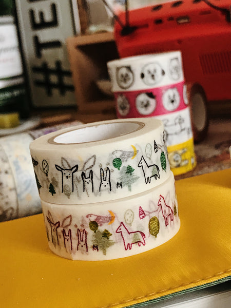 Forest Masking Tape - Black / Wine