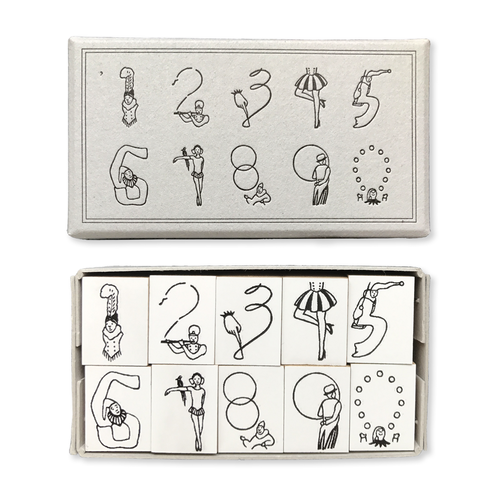 羅久井ハナ Circus Number Stamp Set