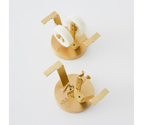 HANDMADE Brass Double Tape Dispenser Desk