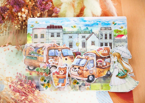 Maruco Food Truck Original Washi Tape (with Release Paper)