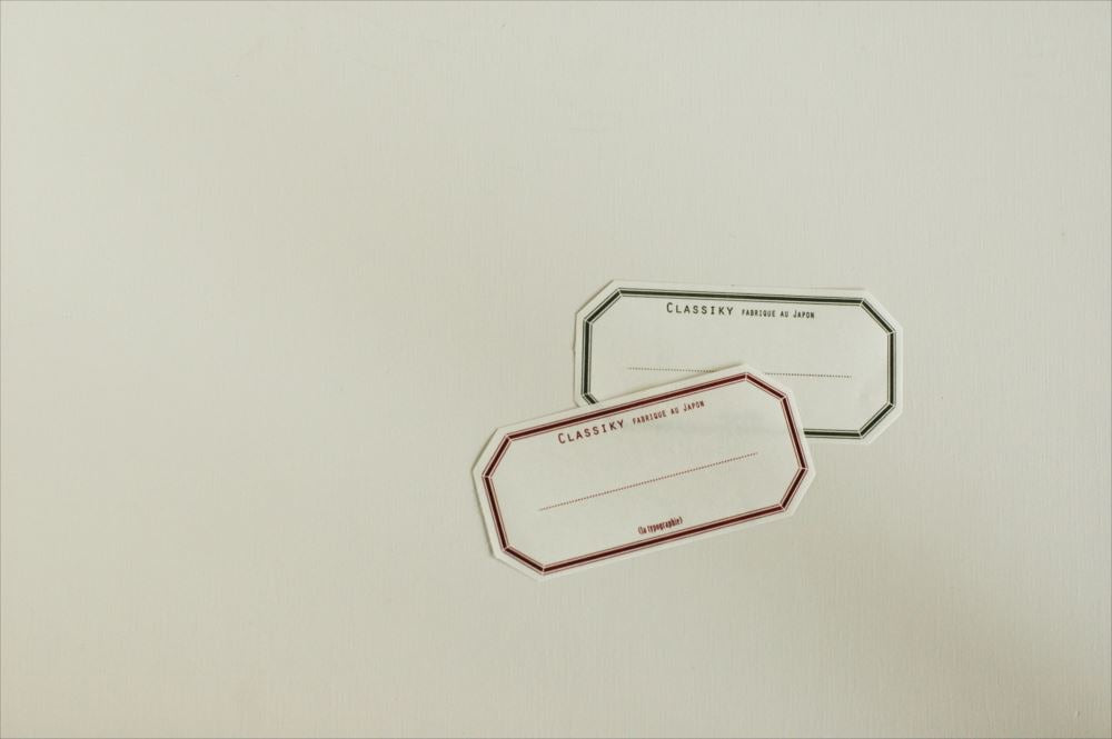 Letterpress Water Adhesive Label Book - Red / Green